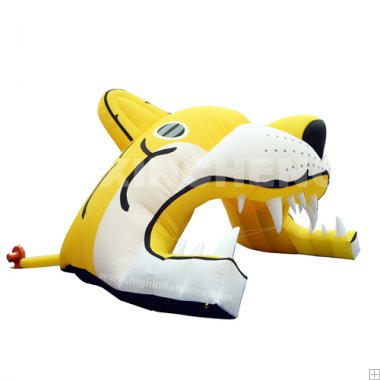 Inflatable tiger tent
