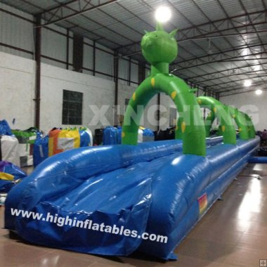 Inflatable dragon water slide