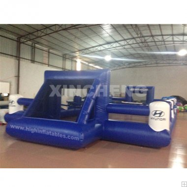 Inflatable human table soccer
