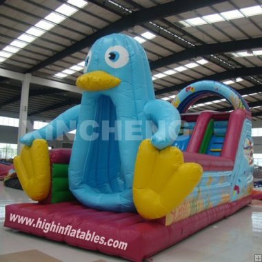 Inflatable duck slide