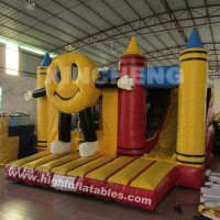 Inflatable button boy bouncer