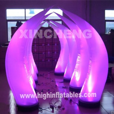 Inflatable light tube