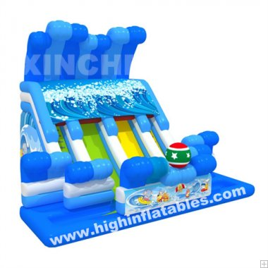Inflatable fun surfing slide