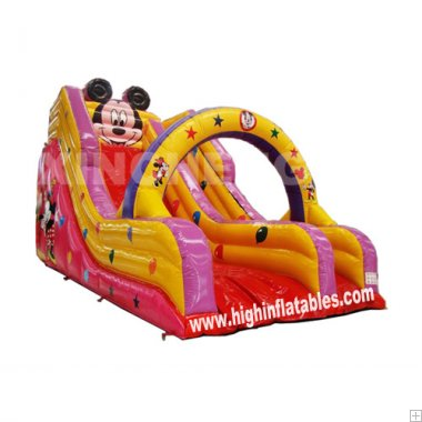 Inflatable mickey high slide