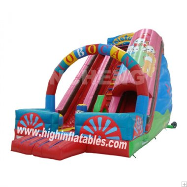 Inflatable Fiery Red Slide