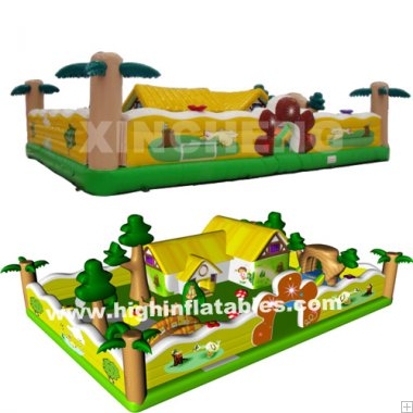 Inflatable happy farm land