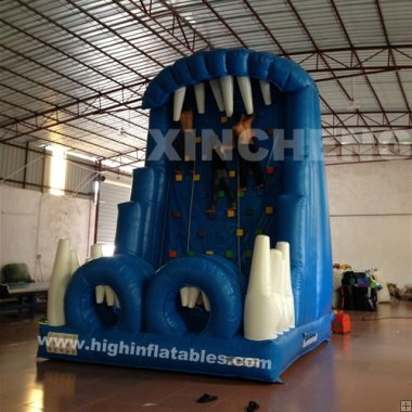 Inflatable snow rock climb