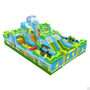 Inflatable 3 in one combination safari funcity