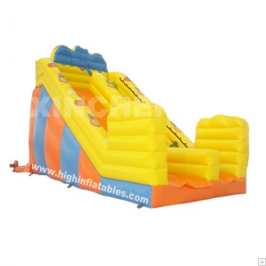Inflatable bright colour standard slide