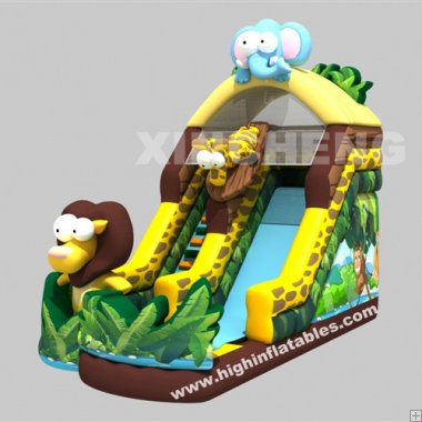 Inflatable safari slide