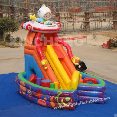 Inflatable space slide