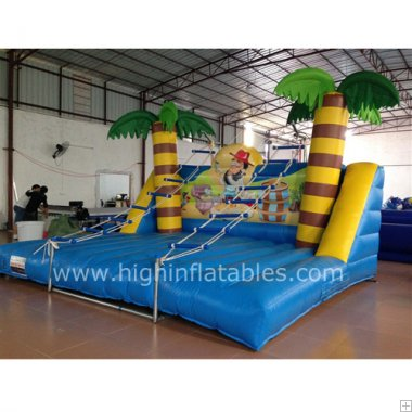 Inflatable ladder sports game