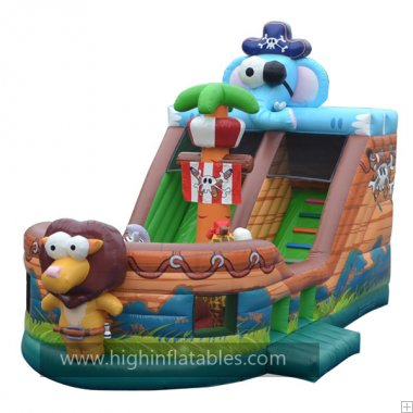 Inflatable captain elepant Pirate ship