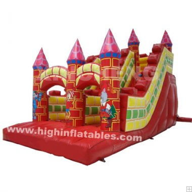 Inflatable castle standard slide