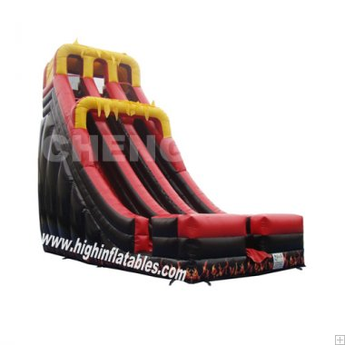 Inflatable party high slide